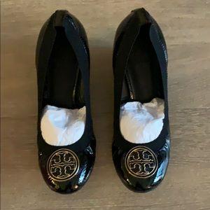 Tory Burch Caroline Black Wedge Shoe